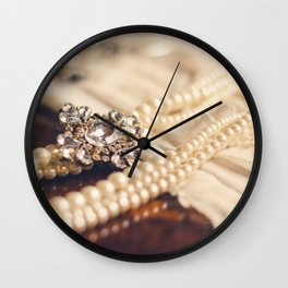 Pearl and Crystal Wall Clock
