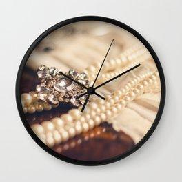 Pearl and Crystal Wall Clock