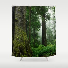Light Fog in the Dense Forest Shower Curtain