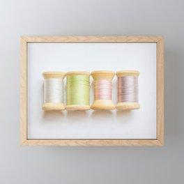 Pastel Spools of Vintage Thread Framed Mini Art Print