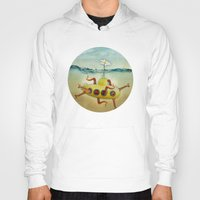 yellow submarine Hoodies featuring yellow submarine in an octapuses garden by Vin Zzep