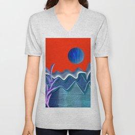 Mountain illustration Unisex V-Neck