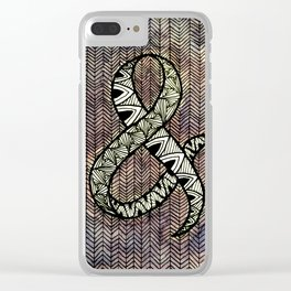 Purple Ampersand Clear iPhone Case