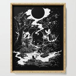 XIII - Death Card (Shadow Light Tarot) Serving Tray