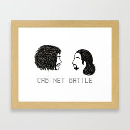 Jefferson Hamilton Cabinet Battle Framed Art Print