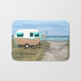 Beach Glamping Camping Bath Mat