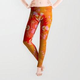 Apricot Calliope Rose Leggings