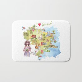 Brasil Map Bath Mat