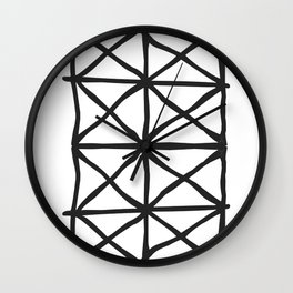 Tribal Print B&W- 05 Wall Clock