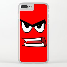 Angry Man Cartoon Clear iPhone Case