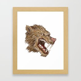 Head with sharp teeth Framed Art Print