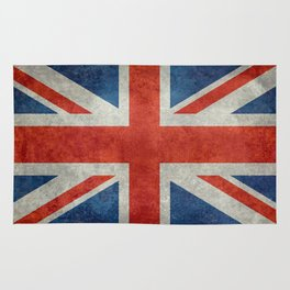 Square Union Jack retro style, made for the Pillows, Duvets and Shower curtains Rug
