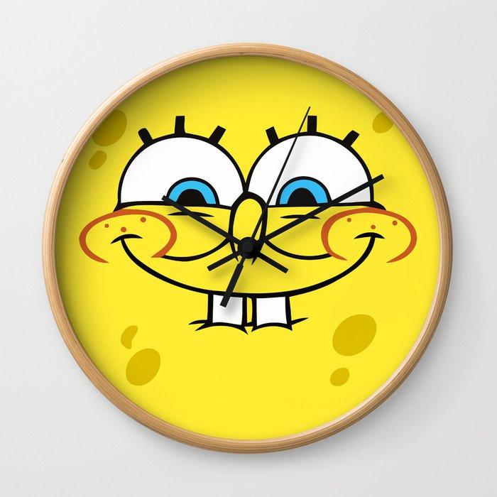 Spongebob Naughty Face Wall Clock