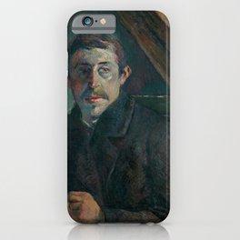"""Paul Gauguin - Self-portrait """"Gauguin devant son chevalet"""" (1885) iPhone Case"""