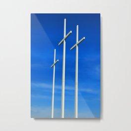 Bellevue Crosses Metal Print