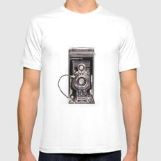 67-6 VINTAGE CAMERA COLLECTION  SMALL White Mens Fitted Tee