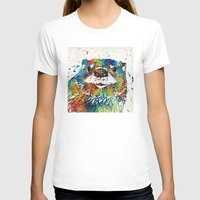 otters T-shirts featuring Otter Art - Ottertude - By Sharon Cummings by Sharon Cummings