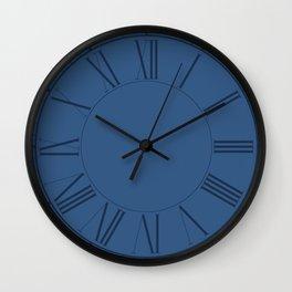 Iris Blue in an English Country Garden Wall Clock