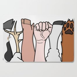 Animal Equality Fists Cutting Board
