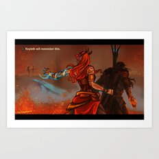 Keyleth will remember this Art Print