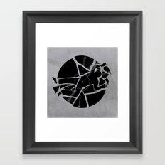 Broken Record Framed Art Print