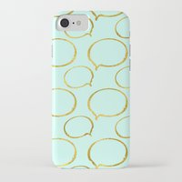gold foil iPhone & iPod Cases featuring Mint Gold Foil 01 by Aloke Design