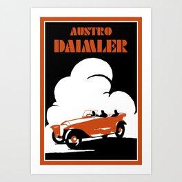 Austro-Daimler classic car Art Print