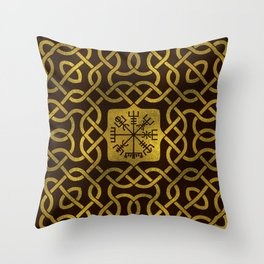 Vegvisir - Viking  Navigation Compass Throw Pillow
