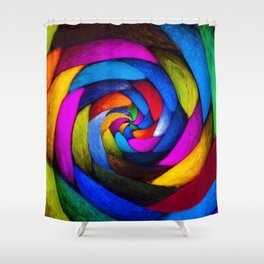 Spun Wool Shower Curtain
