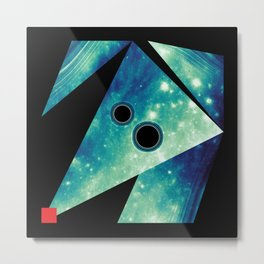 Dog Exploring Space Metal Print