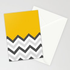 Color Blocked Chevron 17 Stationery Cards