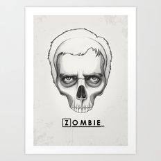Gregory House Skull House MD Art Art Print