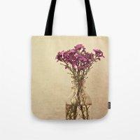 vintage floral Tote Bags featuring Floral ~ vintage by Anne Staub
