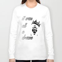 biggie Long Sleeve T-shirts featuring Biggie by Callan Convery Design