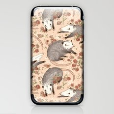 Opossum and Roses iPhone & iPod Skin