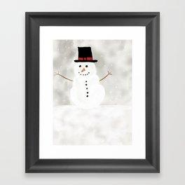 Snowy Man Framed Art Print
