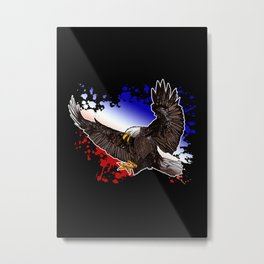 Bald Eagle - Red, White & Blue Metal Print