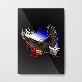 Bald Eagle - Red, White & Blue Metal Print