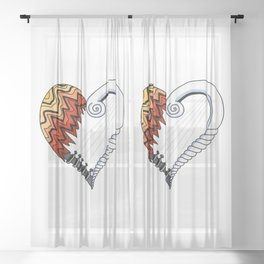 Heartstrings Sheer Curtain