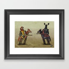 Use Verb on Noun #25: Conquests of Camelot Framed Art Print