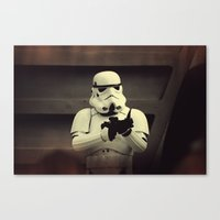 storm trooper Canvas Prints featuring Storm Trooper by WTChuck