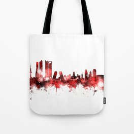 Madrid Spain Skyline Tote Bag