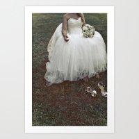 Bride is tired  Art Print
