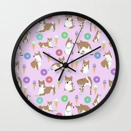 Shiba inu Dessert Wall Clock