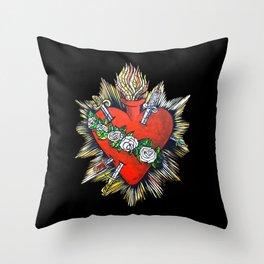 Sacred Heart Sagrado Corazon Throw Pillow