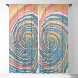 Whirl Sheer Curtain