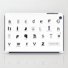 Typerfaces A-Z  iPad Case