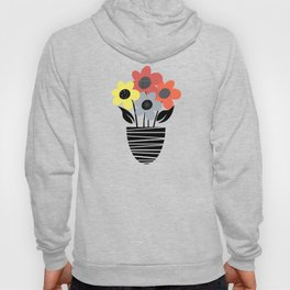 Colorful flowers in pot Hoody