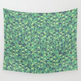Green diamonds Wall Tapestry