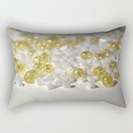 Golden Glass Beads Rectangular Pillow
